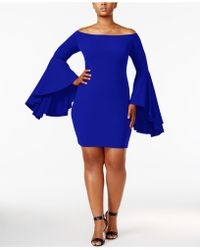 Soprano - Trendy Plus Size Bell-sleeve Dress - Lyst