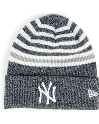 8a3bd527e95 ... denmark ktz new york yankees striped cuff knit hat lyst bf6a6 44c8a