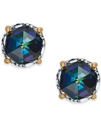 Kate Spade - 14k Gold-plated Crystal Stud Earrings - Lyst