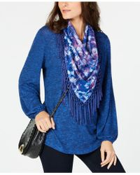 Style & Co. - Tassel-trim Scarf Top, Created For Macy's - Lyst