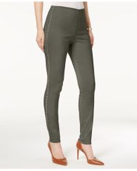 INC International Concepts - I.n.c. Studded Pull-on Skinny Pants, Created For Macy's - Lyst