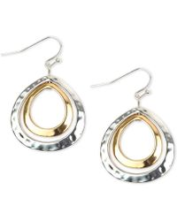 Charter Club - Two-tone Double-row Drop Earrings, Created For Macy's - Lyst