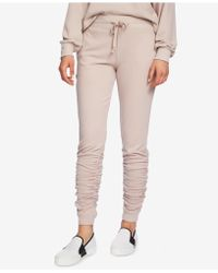 1.STATE - Ruched Jogger Pants - Lyst