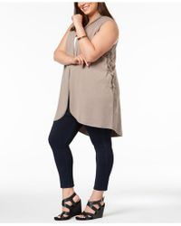Love Scarlett - Plus Size Lace-up-side Vest - Lyst