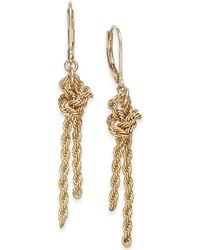 Charter Club - Gold-tone Knotted Rope Chain Drop Earrings, Created For Macy's - Lyst