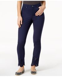 Charter Club - Bristol Eyelet Ankle Skinny Jeans, Created For Macy's - Lyst