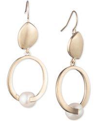 Carolee - Sculptural Cultured Freshwater Pearl Double Drop Earrings - Lyst