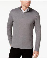 Alfani - Men's Ottoman Quarter-zip Sweater - Lyst