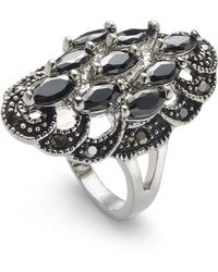 Charter Club - Silver-tone Crystal Oval Statement Ring, Created For Macy's - Lyst