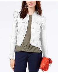 INC International Concepts - Ruffled Linen Jacket, Created For Macy's - Lyst