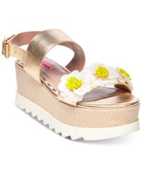 Betsey Johnson - Pipper Wedge Sandals - Lyst