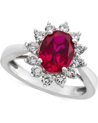 Macy's - Lab-created Ruby (1-3/8 Ct. T.w.) & White Sapphire (5/8 Ct. T.w.) Ring In Sterling Silver - Lyst