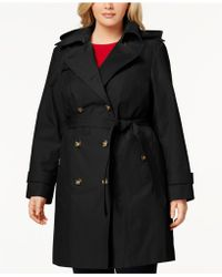 London Fog - Plus Size Double-breasted Trench Coat - Lyst