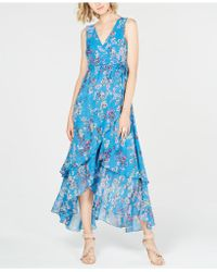 INC International Concepts - I.n.c. Petite Printed Tiered Wrap-front Dress, Created For Macy's - Lyst