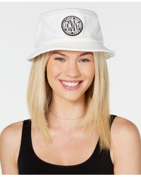 8c3484204a4 DKNY - Logo Faux-leather Bucket Hat - Lyst