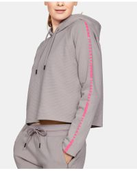 Under Armour Ottoman Fleece Cropped Hoodie - Gray