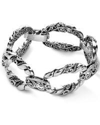 Carolyn Pollack - Scroll Rope Link Bracelet In Sterling Silver - Lyst