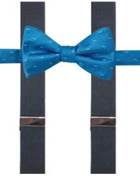 Alfani - Men's Franklin Geometric Bow Tie & Suspender Set - Lyst