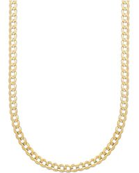 "Macy's - Curb Chain 22"" Necklace (5-3/4mm) In Solid 14k Gold - Lyst"