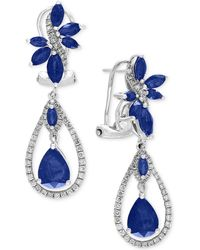 Effy Collection - Sapphire (4-3/4 Ct. T.w.) And Diamond (5/8 Ct. T.w.) Fancy Drop Earrings In 14k White Gold - Lyst