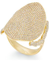 Macy's - Diamond Pavé Dome Ring (1-1/2 Ct. T.w.) In 14k Gold - Lyst