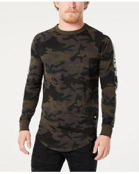 G-Star RAW - Long-sleeve Camo T-shirt, Created For Macy's - Lyst