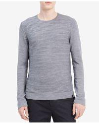Calvin Klein   Men's Textured Stripe Sweater   Lyst