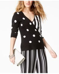INC International Concepts - Mixed-print Surplice Sweater, Created For Macy's - Lyst