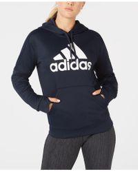 adidas - Shine Logo Hoodie, Created For Macy's - Lyst