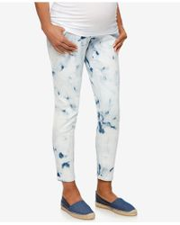 Luxe Essentials - Maternity Skinny Ankle Jeans - Lyst