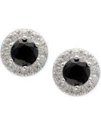 Giani Bernini | Cubic Zirconia Halo Stud Earrings In Sterling Silver | Lyst