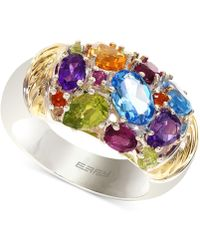 Effy Collection - Multi-stone Ring In 18k Gold Over Sterling Silver (3-1/3 Ct. T.w.) - Lyst