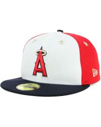 newest 7a5c8 0a62f KTZ - Los Angeles Angels All Star Game Patch 59fifty Fitted Cap - Lyst