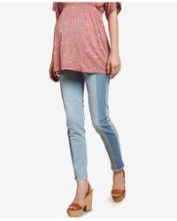 Jessica Simpson - Maternity Colorblocked Skinny Jeans - Lyst