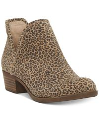 Lucky Brand - Baley Perforated Chop Out Booties - Lyst