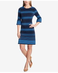 Tommy Hilfiger | Printed Bell-sleeve Dress | Lyst
