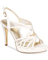 Adrianna Papell - Adri Platform Strappy Sandals - Lyst