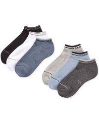 Calvin Klein   Six-pack Back Tab Ankle Socks   Lyst
