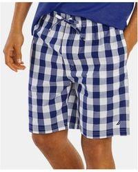 a2e0125d788 Nautica Knit Sleep Shorts (noon Blue) Men's Pajama in Black for Men ...