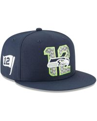 new product 78109 a0e3c KTZ Seattle Seahawks Salute To Service 9twenty Cap in Green for Men - Lyst