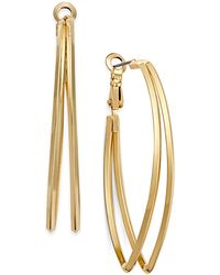 INC International Concepts - Gold-tone Pointed Double Hoop Earrings - Lyst