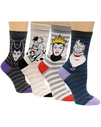 Disney - Women's 4-pk. Assorted Villains Socks - Lyst
