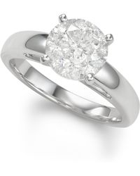 Macy's - Diamond Solitaire Engagement Ring (3 Ct. T.w.) In 14k White Gold - Lyst