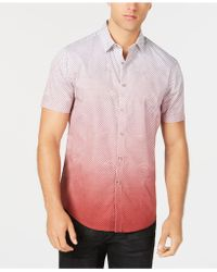 INC International Concepts - Dip-dyed Net Pattern Shirt, Created For Macy's - Lyst