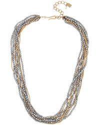 Robert Lee Morris Mixed Pearl & Chain Layered Necklace - Metallic