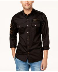 Guess   Men's Cypress M81 Embroidered Shirt   Lyst