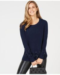 Charter Club - Sequin-embellished Pure Cashmere Sweater, Created For Macy's - Lyst