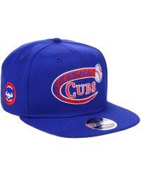 e59214d6a44 Lyst - KTZ Chicago Cubs 59fifty Bro Cap in Blue for Men