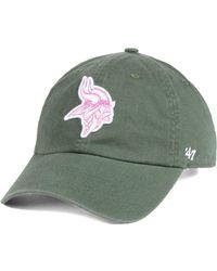 new styles d4d70 5975d ... amazon 47 brand minnesota vikings moss glitta clean up cap lyst 866c1  713a6