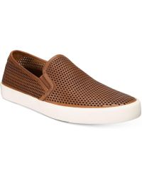 Frye - Brett Perforated Slip-on Trainers - Lyst